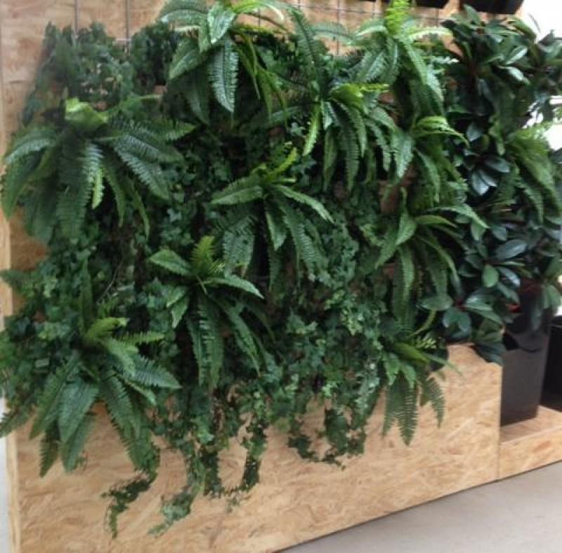 Skab liv på kontoret eller i receptionen med kunstige plantevægge